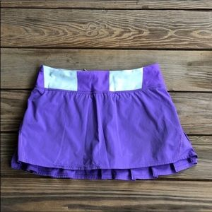 Lululemon Run Pace Setter Skirt With Shorts
